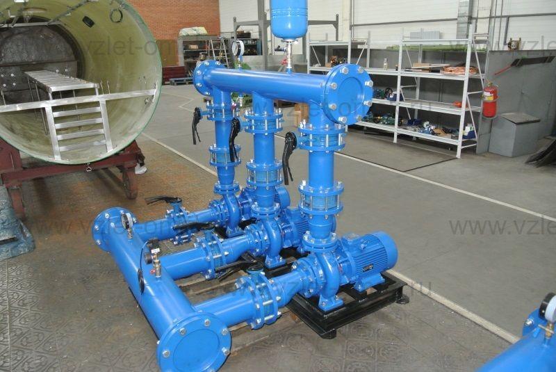 Трёх-насосная станция водоснабжения