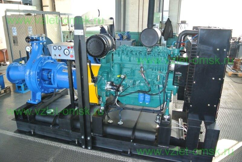Фото дизельной насосной станции с насосом СМ