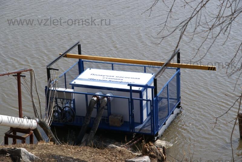 Фото плавучей насосной станции Иртыш-Комфорт-П