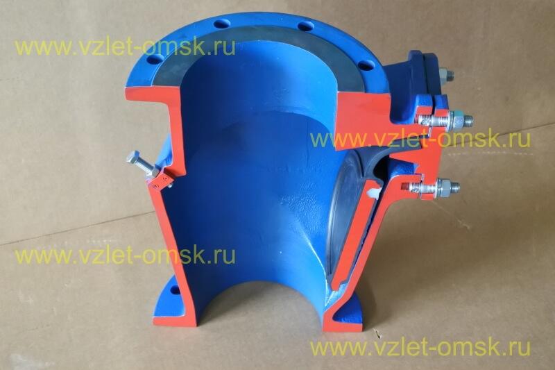 Макет клапана КСВ Ду100 Ру10 в открытом состоянии