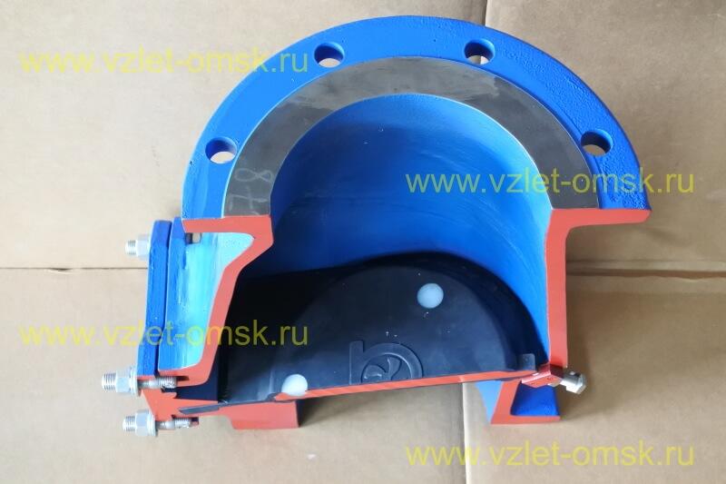 Макет клапана КСВ Ду100 Ру10 в закрытом состоянии